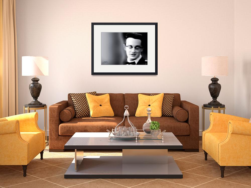 """Buddy Holly fine art giclee print&quot  (2007) by positiveID"
