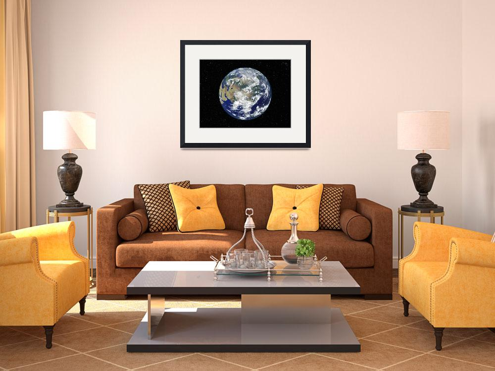 """Fully lit Earth centered on Asia&quot  by stocktrekimages"