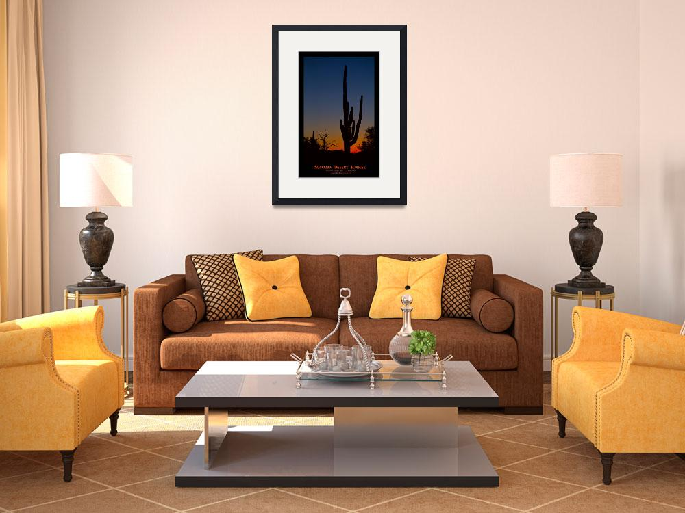 """Sonoran Desert Sunrise Poster&quot  (2014) by lightningman"
