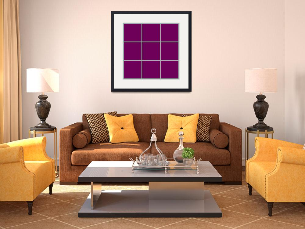 """""""Violet Window 189 Canvas Contemporary Modern&quot  (2010) by Ricardos"""
