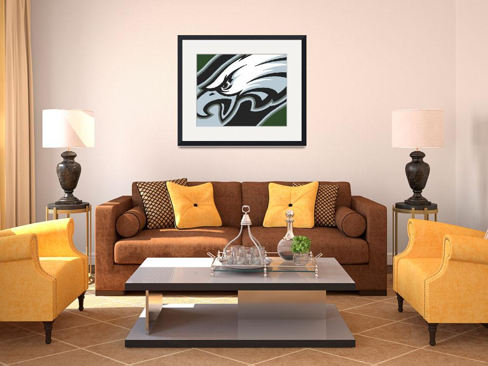 """Philadelphia Eagles Football&quot  by RubinoFineArt"