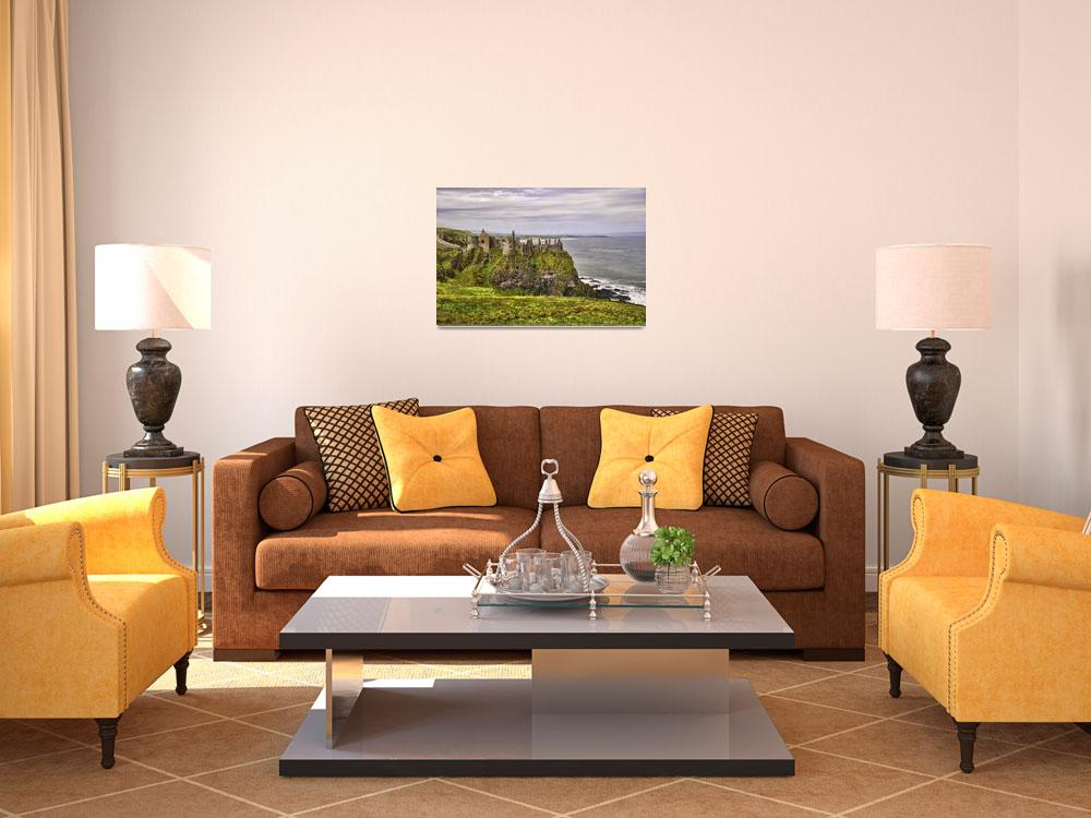 """""""Dunluce Castle""""  (2012) by PaulCoco"""