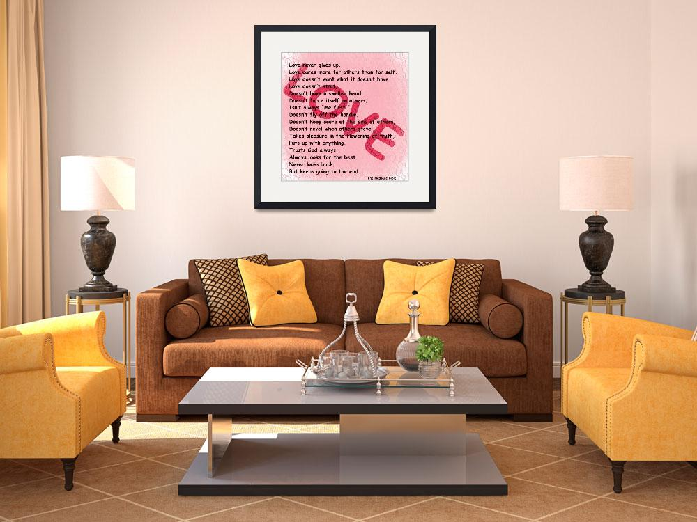 """""""love message pink texture2&quot  by lizmix"""