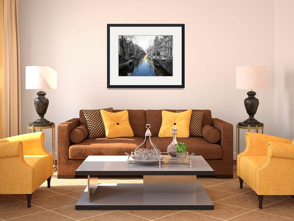 """""""Amsterdam Canal&quot  (2009) by klewis"""