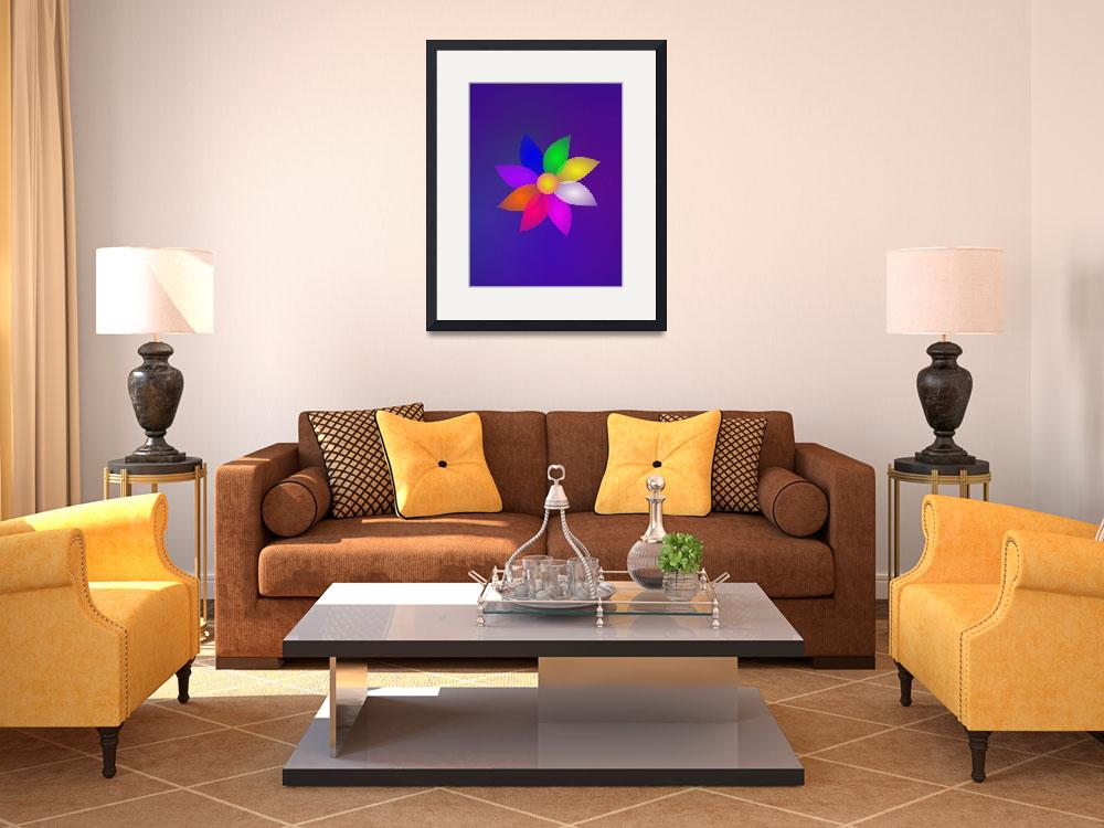 """""""Colorful Flower in Space Art&quot  (2013) by masabo"""