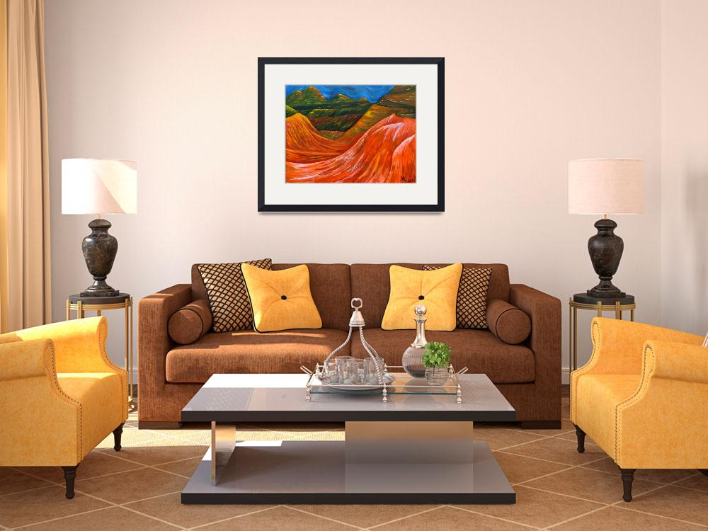 """""""""""Mountains"""" original acrylic painting&quot  (2008) by marnold"""
