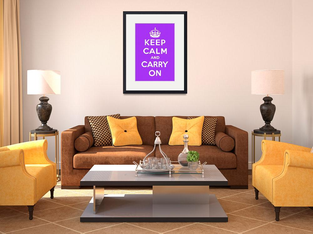 """""""Purple Keep Calm And Carry On 5&quot  by oldies"""