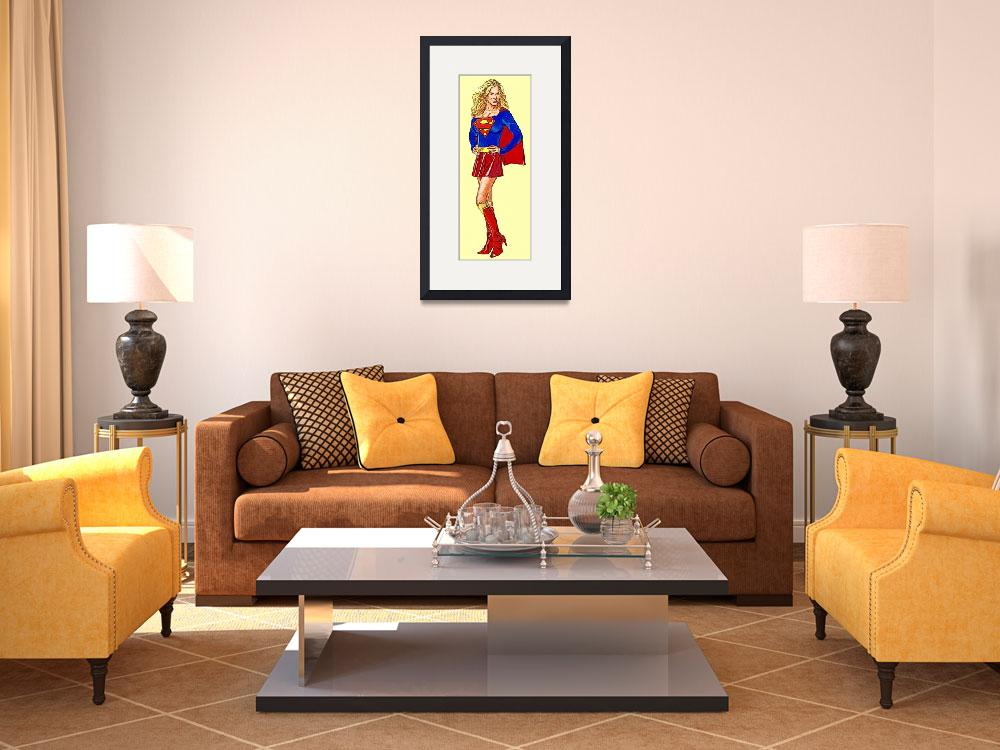 """""""Supergirl (Traditional, Red Skirt)&quot  (2014) by Automotography"""