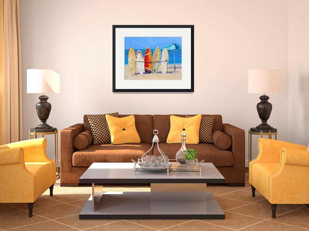 """""""Resting on the Beach&quot  (2012) by LeslieSaetaFineArt"""