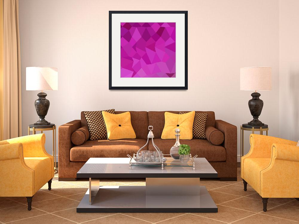 """""""Persian Rose Pink Abstract Low Polygon Background&quot  (2015) by patrimonio"""