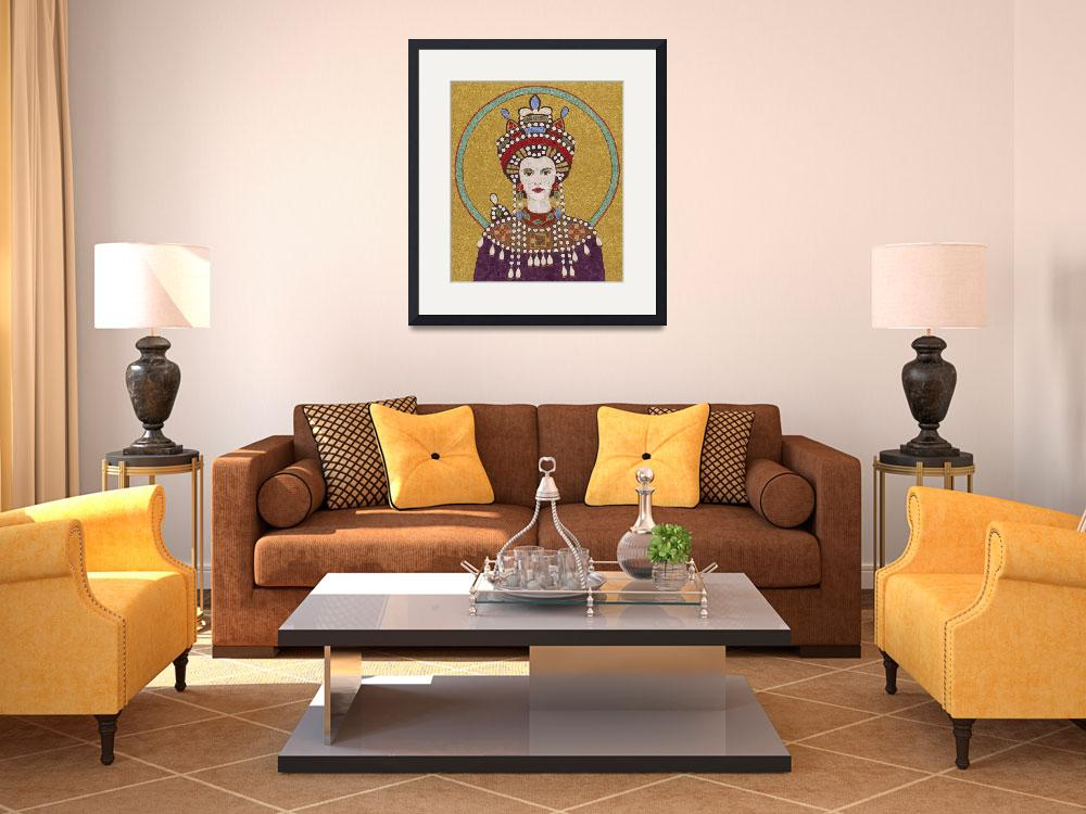 """""""""""Empress Theodora""""  fabric mosaic&quot  (2012) by RemnantWorks"""