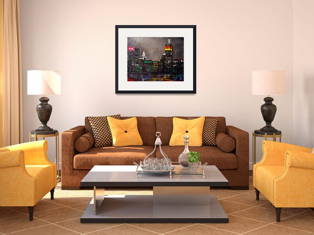 """New York Skyline&quot  (2009) by ArtPrints"