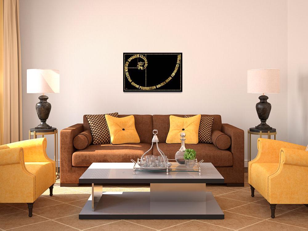 """Golden Ratio, Fibonacci Spiral, Typographic&quot  by Ars_Brevis"