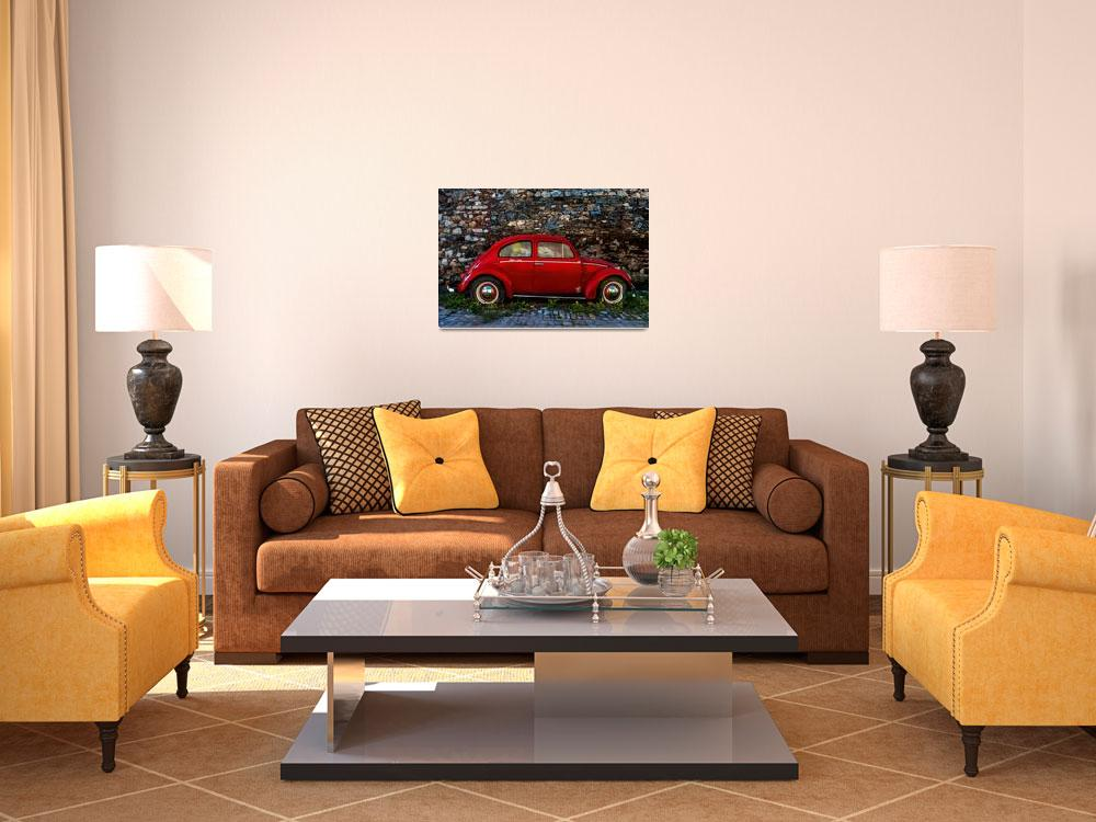 """""""Red Volkswagen Beetle""""  (2013) by JohnSloop"""