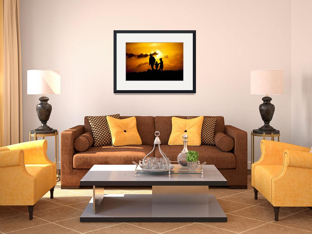 """""""family sunset&quot  (2011) by Haniols"""
