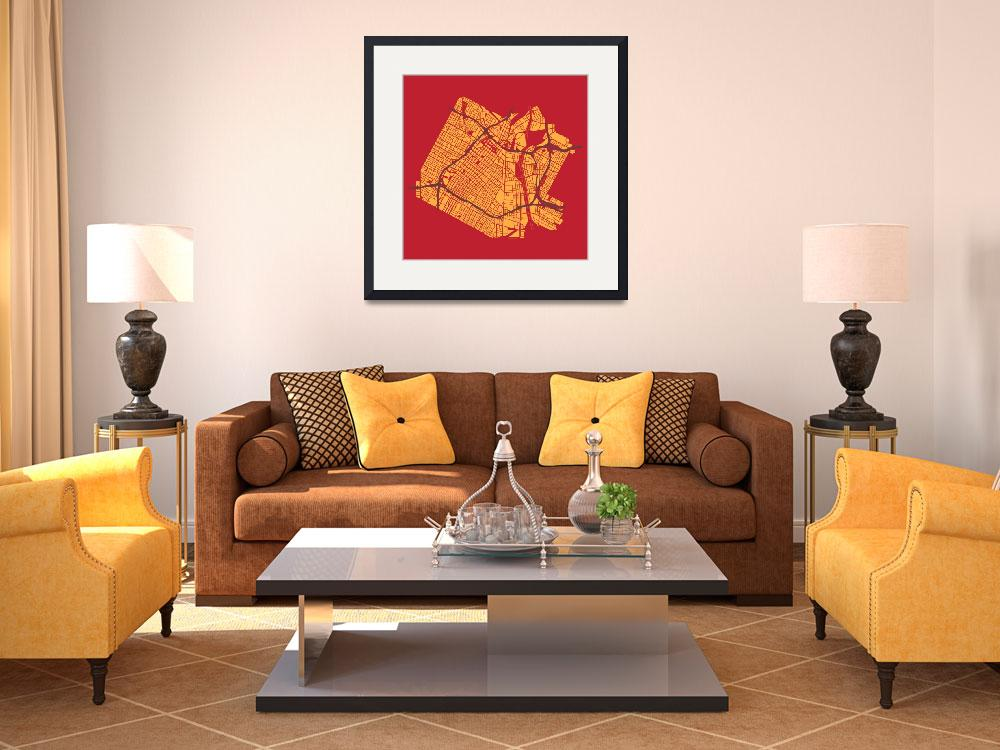 """""""Los Angeles - Gold on Red&quot  (2013) by geosthetics"""