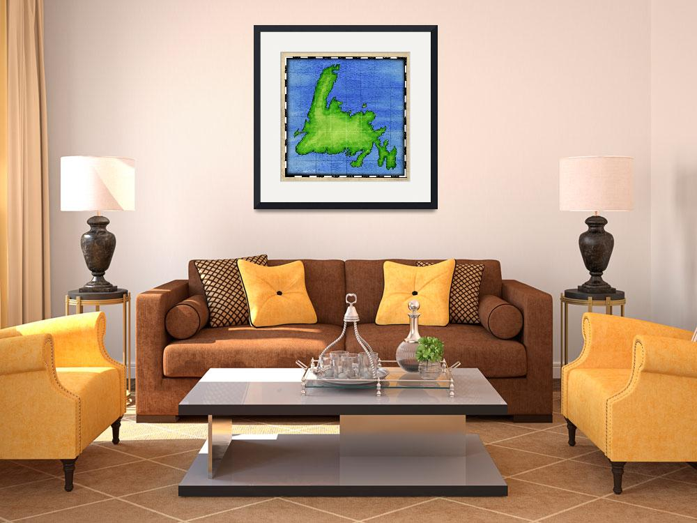 """""""Newfoundland Map&quot  (2004) by howyadoin"""