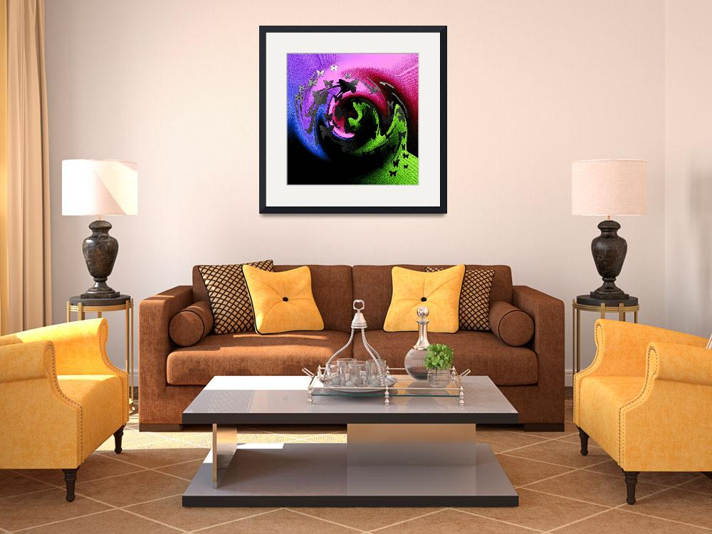 """""""abstract butterfly art 1""""  (2012) by mindgoop"""