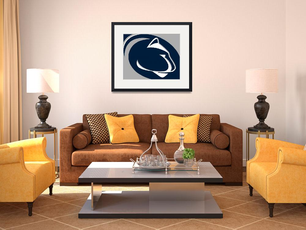 """Penn State Nittany Lions&quot  (2018) by RubinoFineArt"