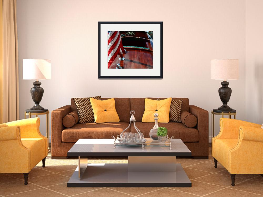 """""""Chris Craft with Flag and Steering Wheel&quot  (2014) by Michelle1991"""