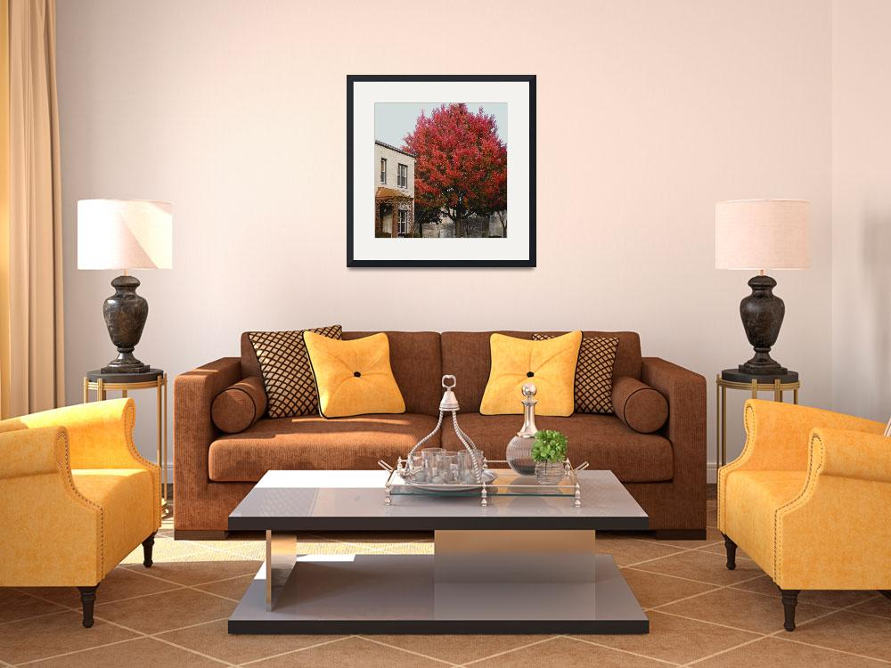 """""""The Rectory in Fall&quot  (2009) by katharinahuntoon"""