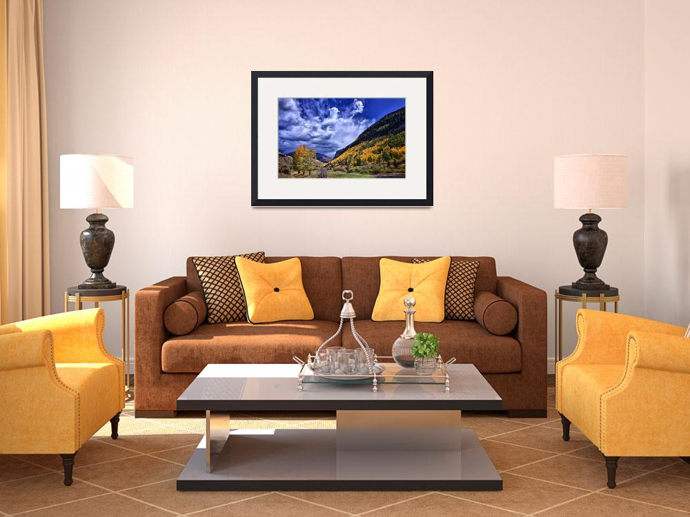 """""""Vail Golf Course In Autumn&quot  (2010) by JannArtPhotography"""