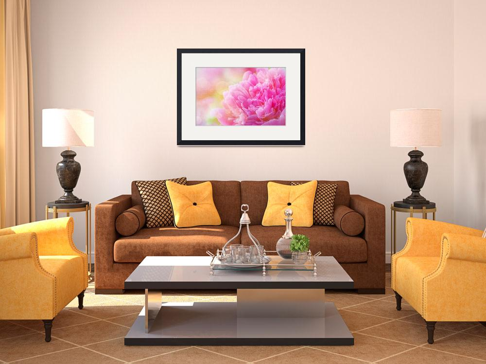 """""""Peony with Canvas Effect&quot  (2014) by joanhan"""