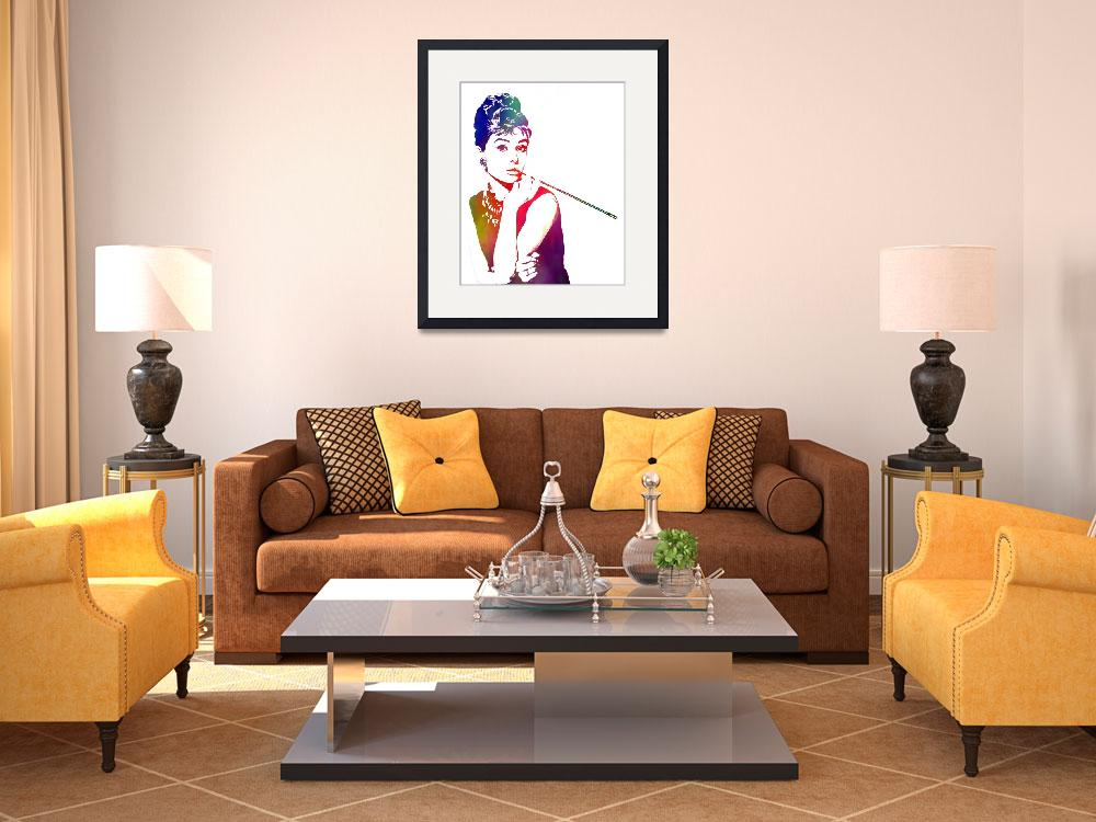 """""""Painted Audrey (Breakfast at Tiffanys)&quot  (2011) by D77TheDigArtisT"""