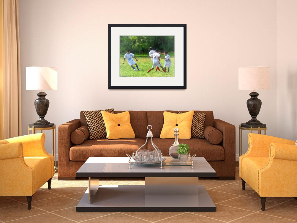 """Soccer Ball in Play&quot  (2012) by susansartgallery"