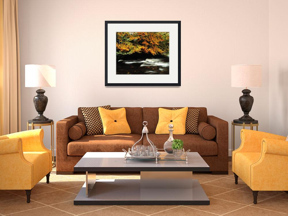 """Fast Flowing Water And Fall Colours&quot  by DesignPics"