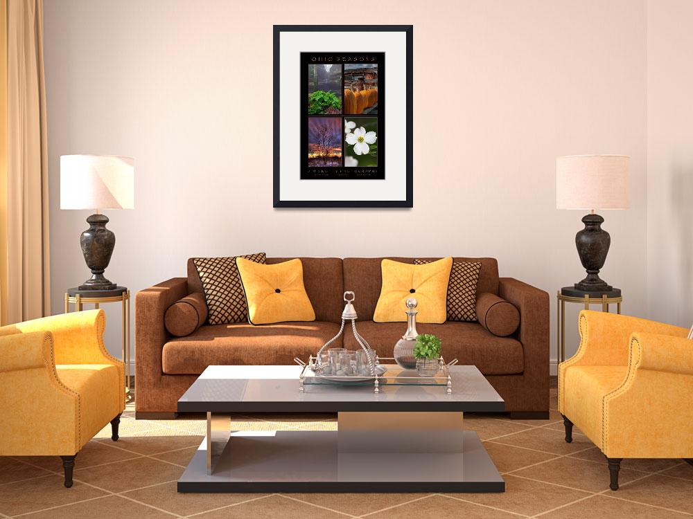 """""""Ohio Seasons Four Image Poster Print&quot  (2009) by jimcrotty"""