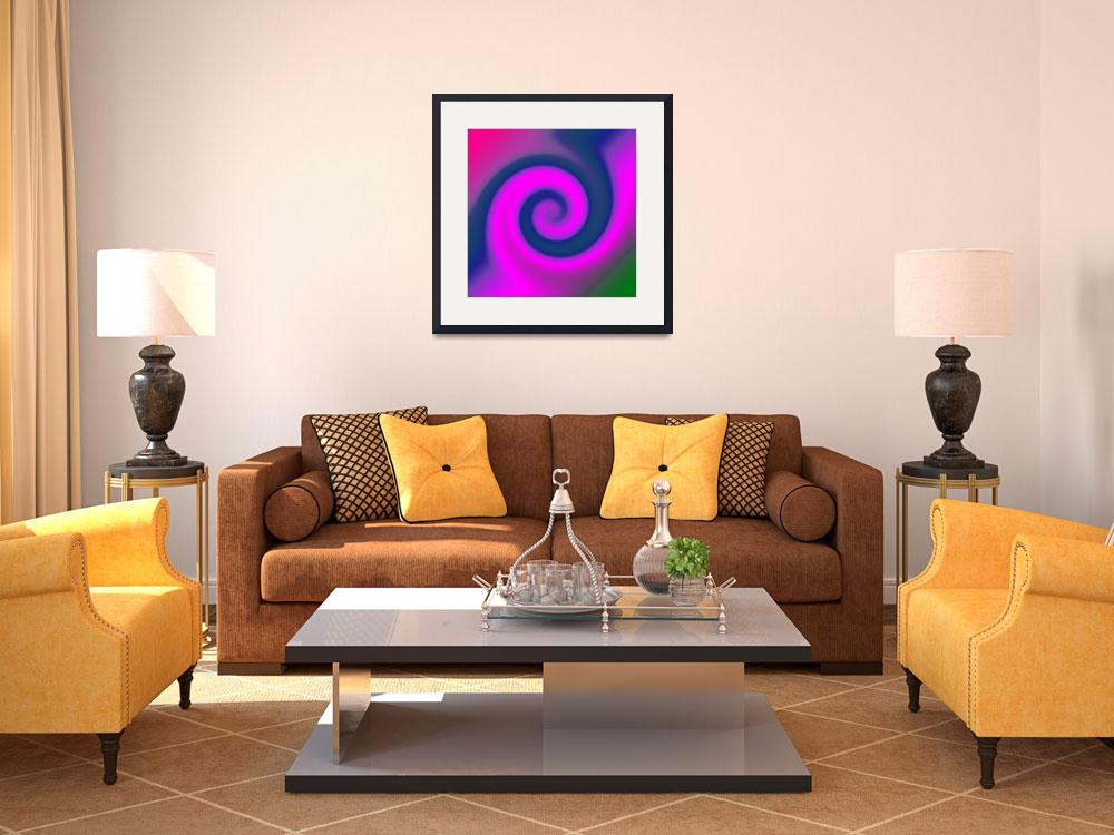"""""""swirl pink blue&quot  by DonnaGrayson"""