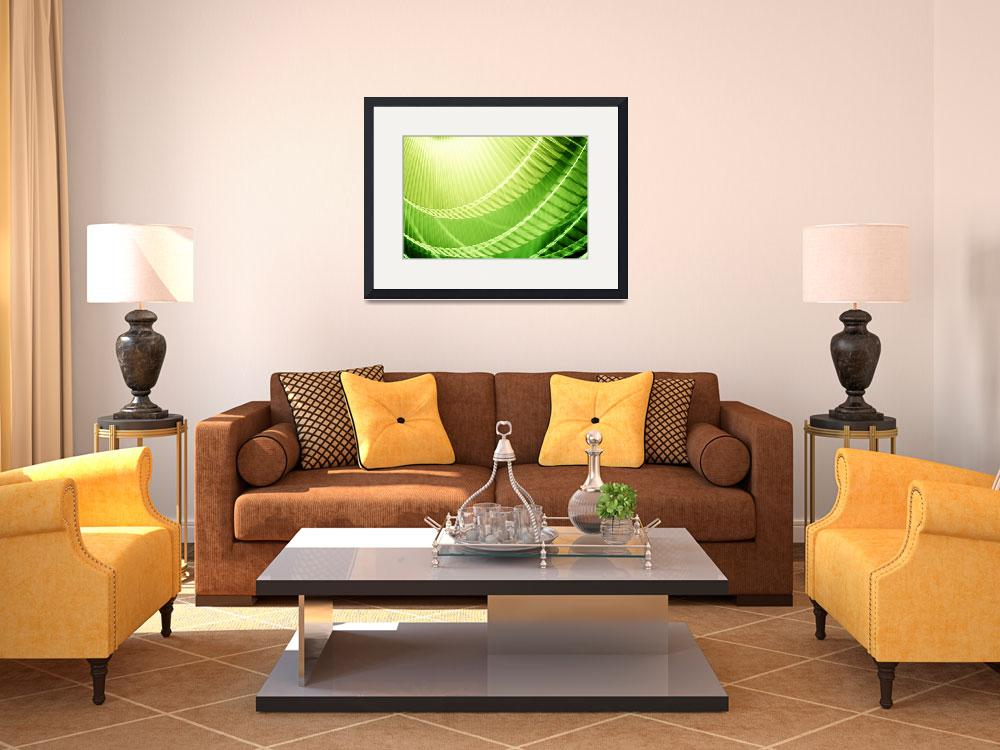 """""""Bright Lime Green Abstract Wall Art&quot  (2010) by NatalieKinnear"""