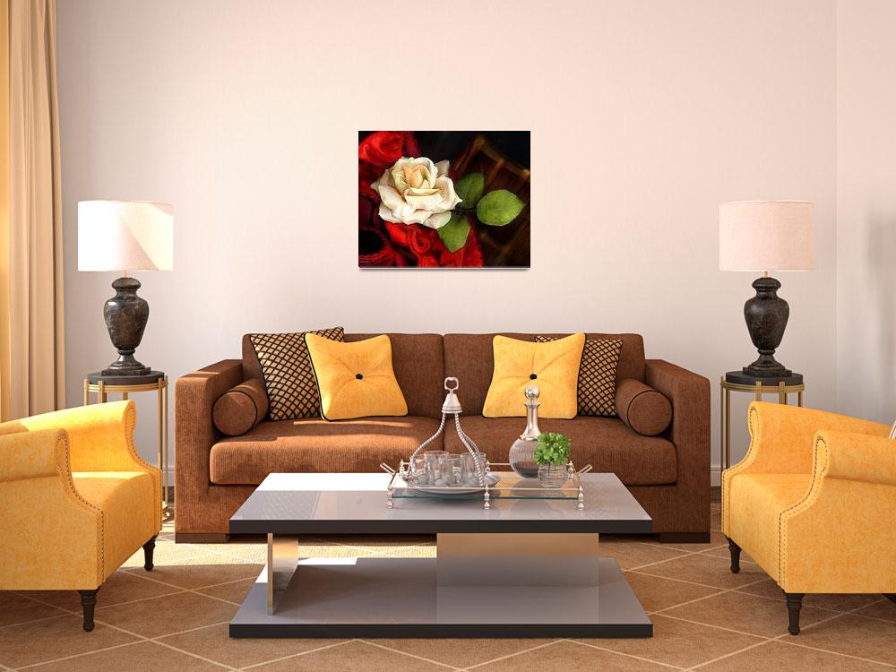 """""""VINTAGE ROSE #1&quot  (2007) by carrollgraphix"""