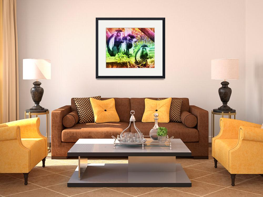 """""""3 monkeys Brilliant Colors""""  (2019) by mjacedesigns"""