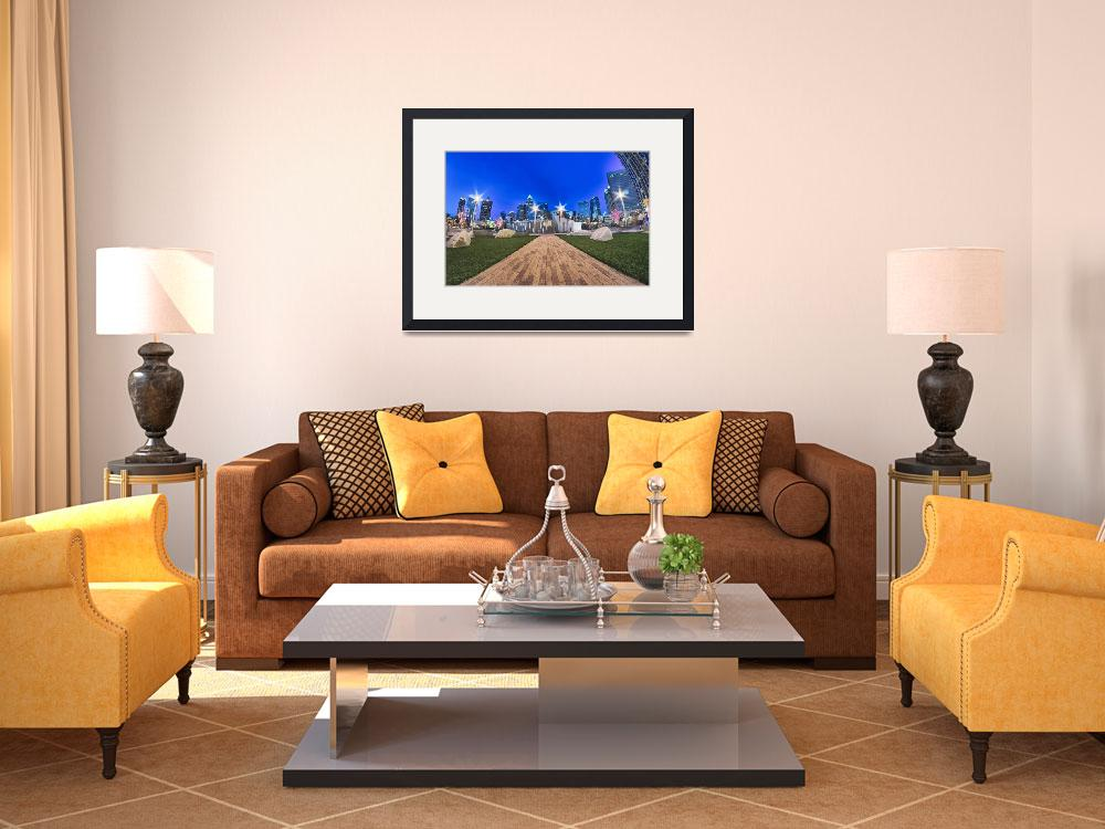 """charlotte skyline at romare bearden park and bbt k&quot  by digidreamgrafix"