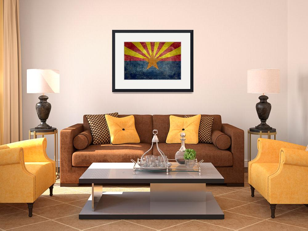 """Arizona state flag - Vintage version&quot  (2012) by BruceStanfieldArtist"