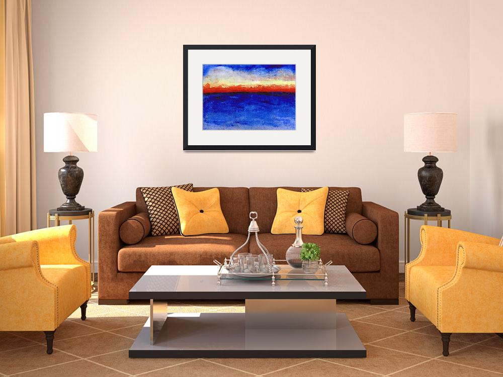 """Sunrise Seascape Abstract 2c&quot  (2014) by Ricardos"