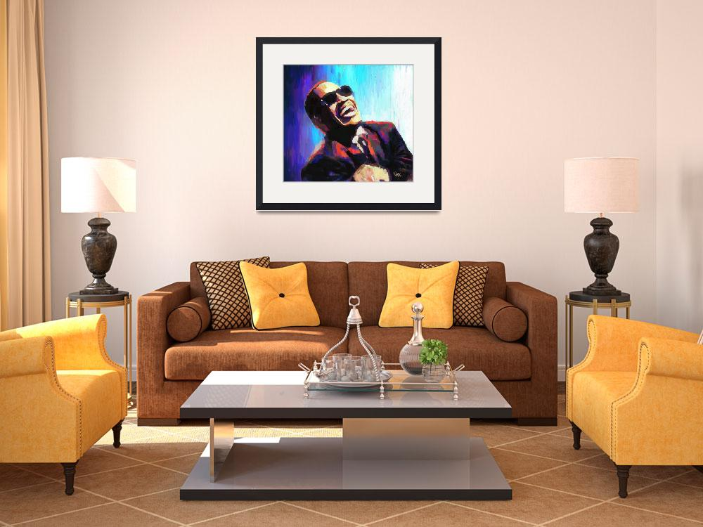 """""""Ray Charles&quot  by Vya_Artist"""