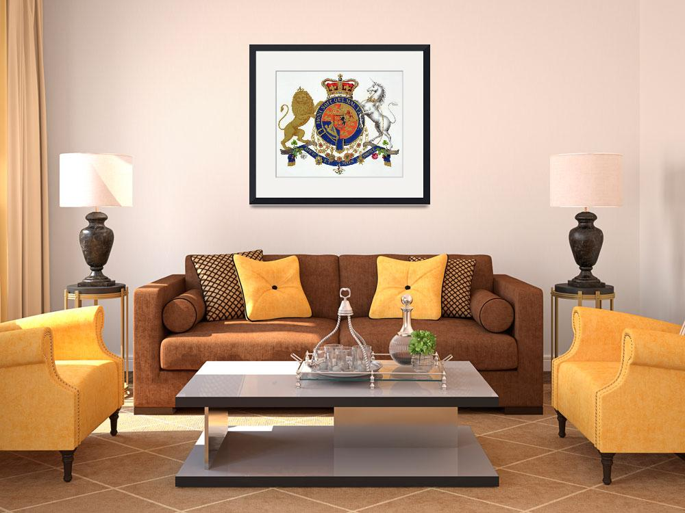 """""""Crest of the King of the United Kingdom of Great B&quot  by fineartmasters"""