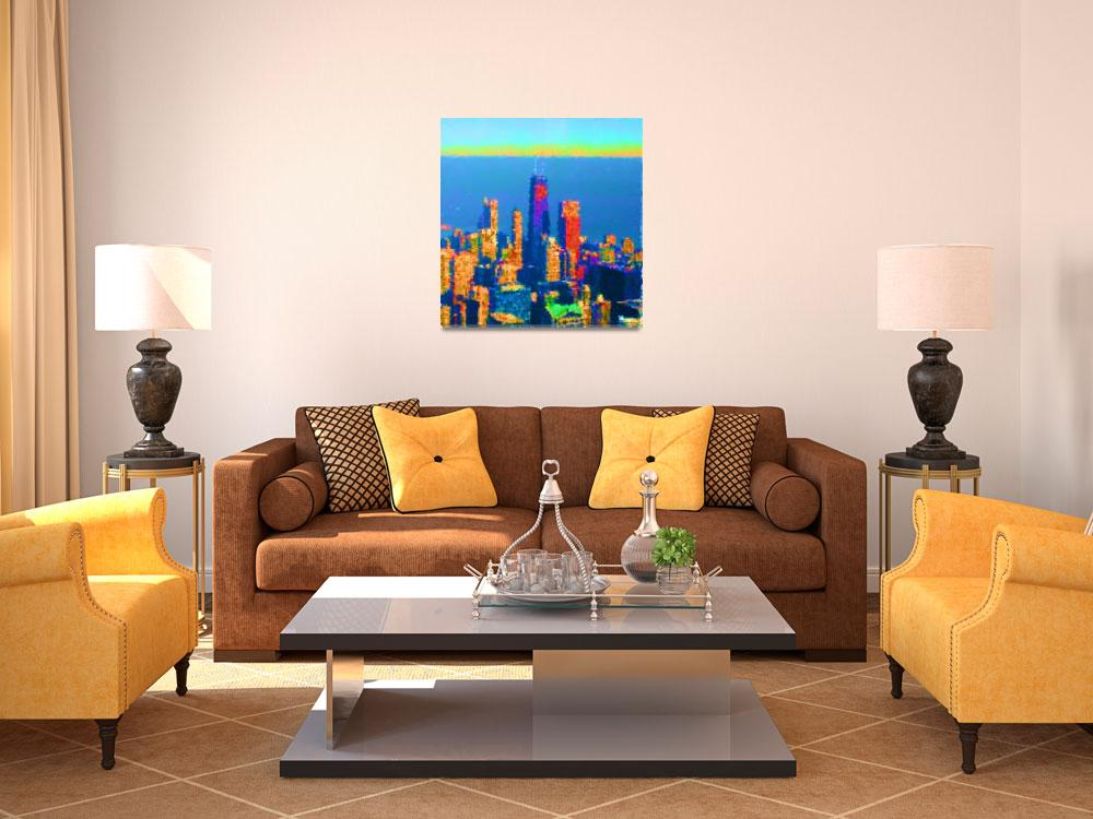 """""""Downtown Chicago Reimagined&quot  (2014) by Jim-Plaxco"""
