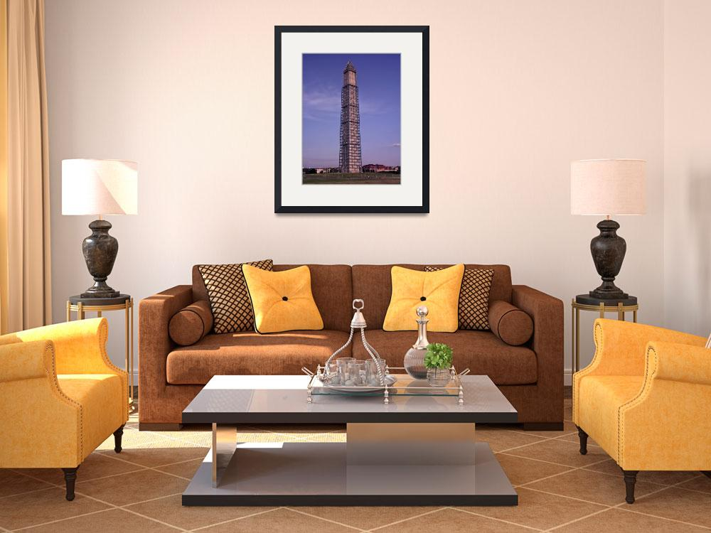 """""""Washington Monument with scaffolding&quot  (2013) by TOMSHEA"""