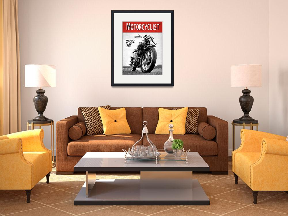 """""""Motorcycle Magazine Weekend Racer 1960&quot  (2009) by mark-rogan"""