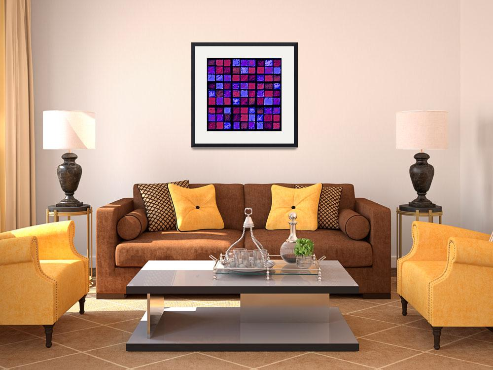 """""""Sudoku Abstract Red Purple&quot  (2012) by KsWorldArt"""