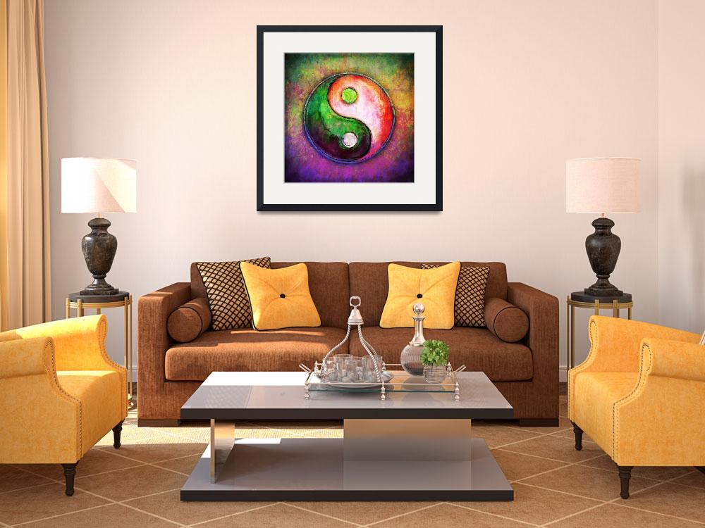 """""""Yin Yang - Colorful Painting VIII&quot  by dcz"""