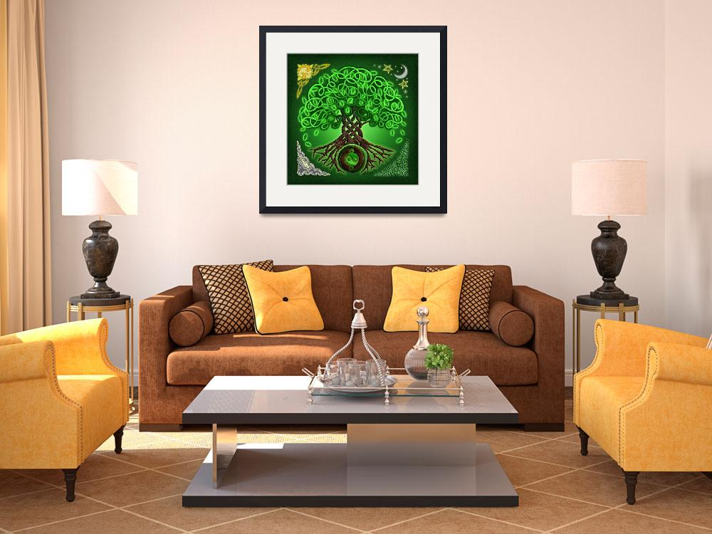 """""""Circle Celtic Tree of Life&quot  by foxvox"""