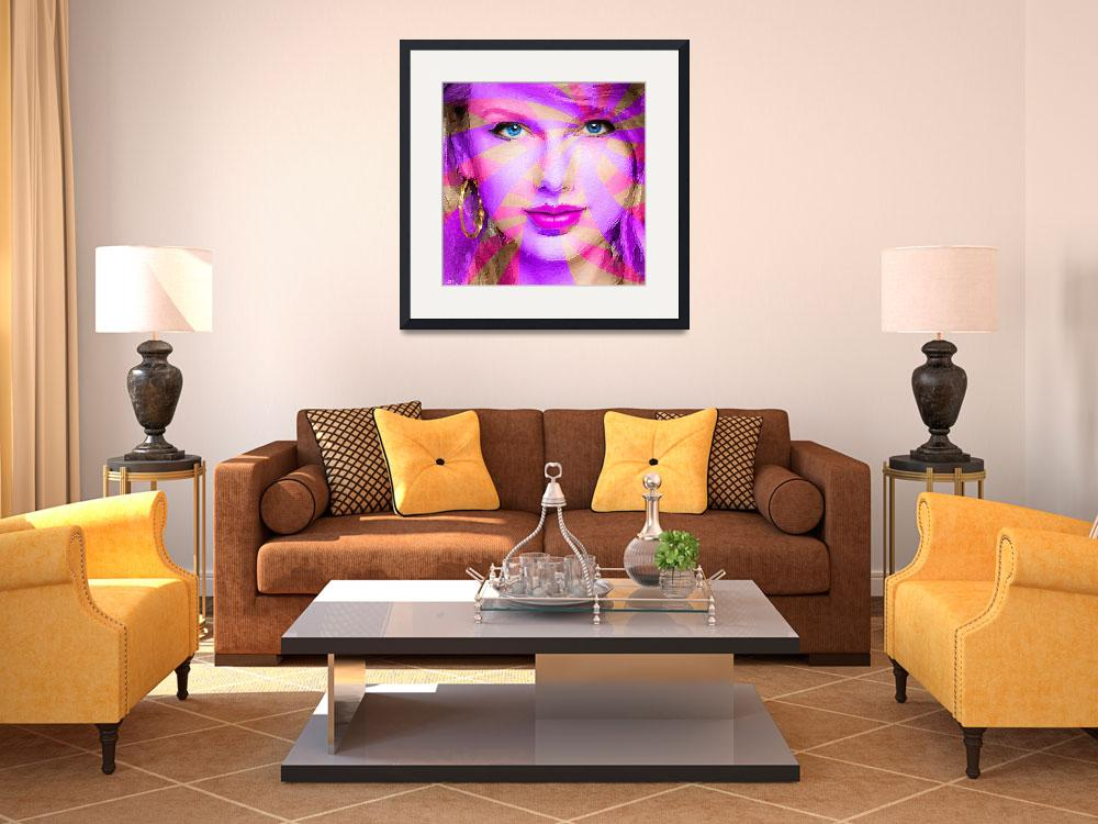 """""""Taylor Swift Pink Square&quot  (2015) by RubinoFineArt"""