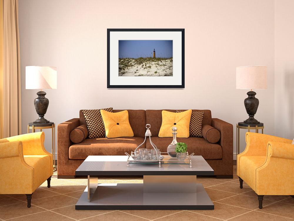 """""""Beach View of Ponce Inlet Lighthouse&quot  (2012) by ValeriesGallery"""