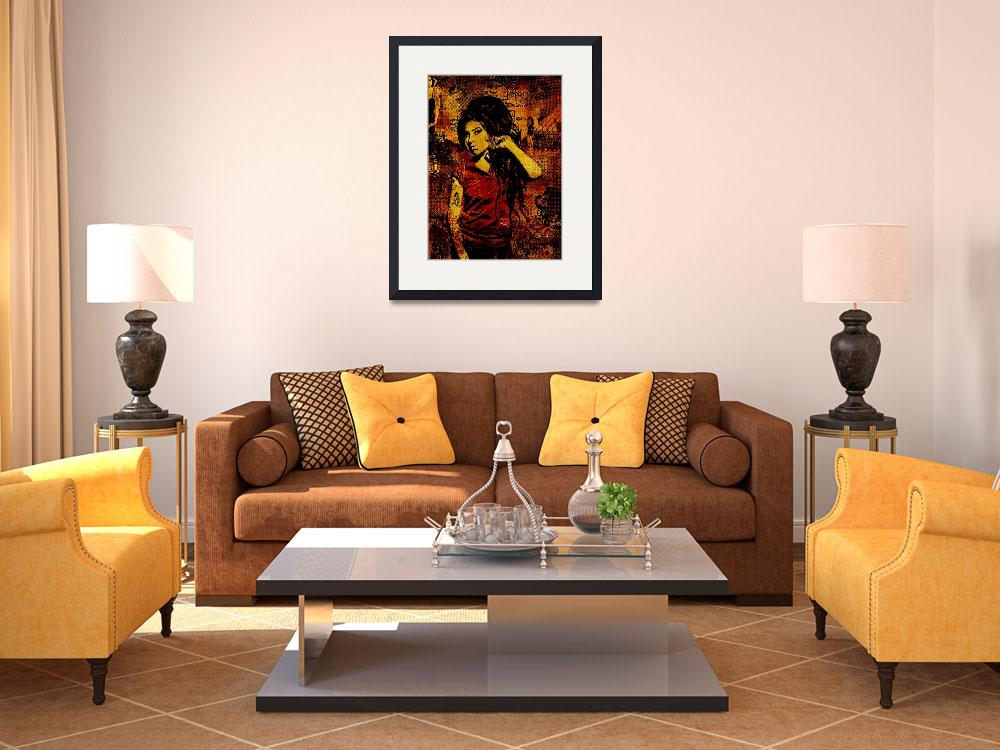 """""""Amy Winehouse Canvas&quot  (2011) by Dancin"""