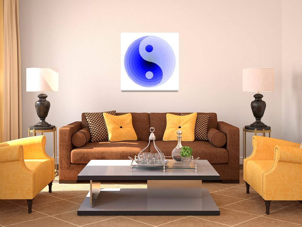 """zen blue motif""  (2008) by AngelaHayden"